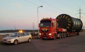 охрана негабаритных грузов